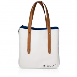 Shopping Bag White & Blue Icon