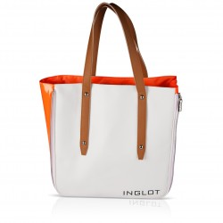 Shopping Bag White & Orange Icon